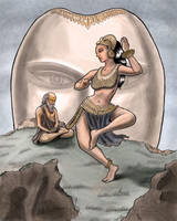 Menaka Dances for Vishwamitra by sequentialscott