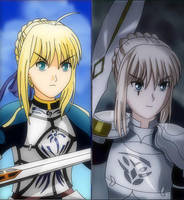 Saber and Mordred by arbaros