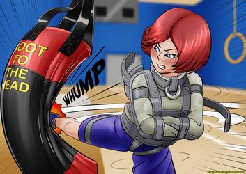 Straitjacket Kickboxing Practice by Plasma-dragon