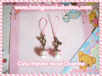 Cute Panda Head Charms by MoogleGurl