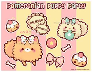 Pomeranian Puppy Party by MoogleGurl