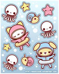 Stickers: Under Water Fun by MoogleGurl