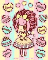 Stickers: Sweet Treat Macarons by MoogleGurl