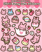 Chirii Bunny Cafe Stickers by MoogleGurl