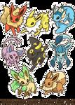 Eevee Evolutions by MoogleGurl