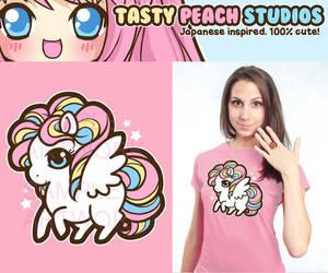 Rainbow Pegasus Tee by MoogleGurl