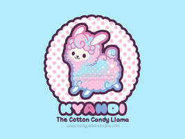 Kyandi the Cotton Candy Llama by MoogleGurl
