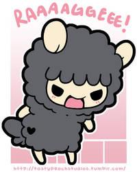 TPS: Grumpy Black Sheep's Tiny Rage by MoogleGurl