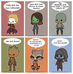 Chibi Guardians of the Galaxy by MoogleGurl