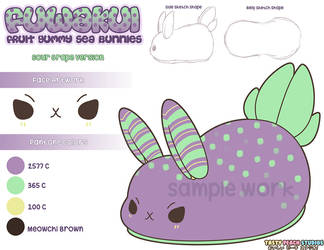 Plush Design Fuwakui Sea Bunny Sour Grape by MoogleGurl