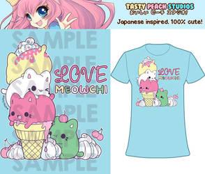 TPS: 'Love Meowchi' Ice-Cream Tee by MoogleGurl