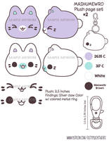 TPS: Mashumewro Plush Keychain Design Set 2 by MoogleGurl