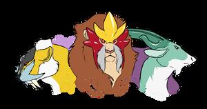 Random Art - Legendary Beast Trio by CasFlores