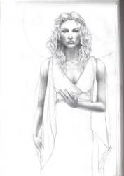 WIP Rhiannon, Celtic Goddess by zesquirl