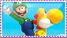 Luigi - NSMBW Stamp by MandiR