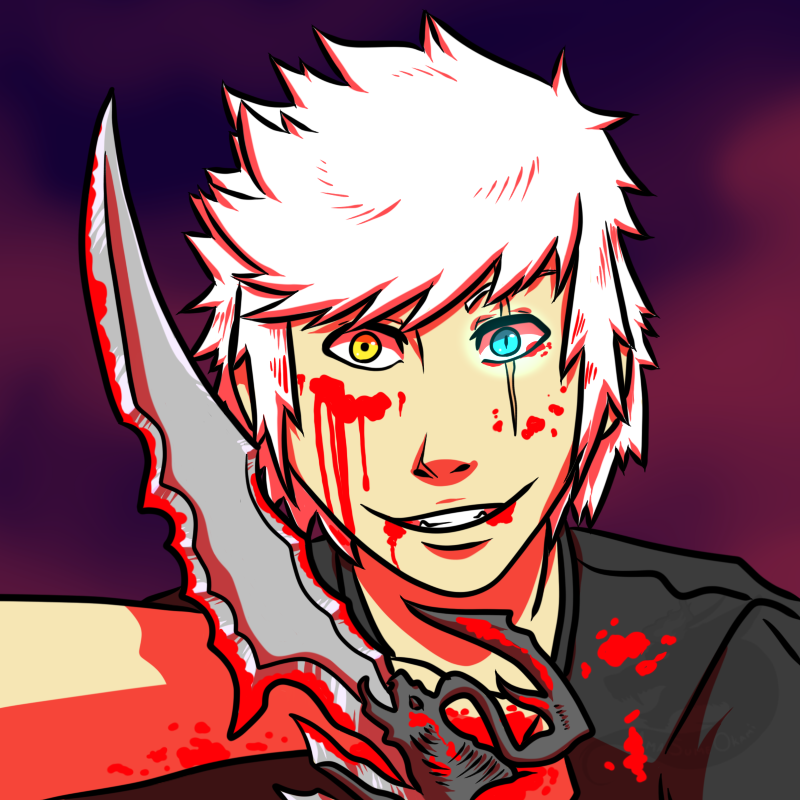 Halloween commission : Nate (bloody ver.) by AmaSumeOkami