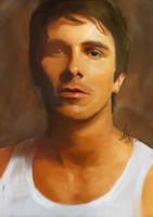 Christian Bale Dark Knight Digital Painting by jojocelyn