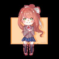 Doki Doki Literature Club - Monika by Amunette-Art