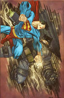 James Harren Bats vs Superman by SpicerColor