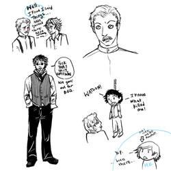 Sherlock Holmes Doodles by Kiyda