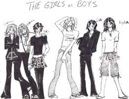 The GIRLS as BOYS by Kiyda