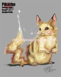 Realistic Pikachu by latent-ookami