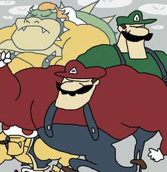Badass Mario by HoppyBadBunny
