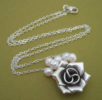Rose Cluster Necklace - Pearl by starrydesigns