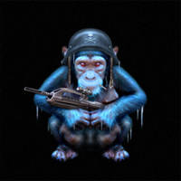 Frozen Chimp by postmodern833