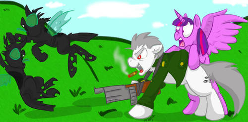 HERE! HAVE SOME MORE HOLES! by MLConley