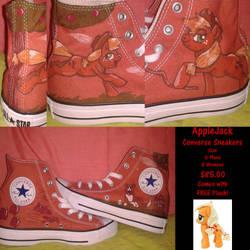 Applejack Converse Sneakers (FOR SALE) by MLConley