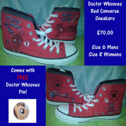 Doctor Whooves Converse (FOR SALE) by MLConley