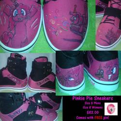 PinkiePie Sneakers (FOR SALE) by MLConley