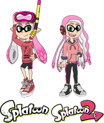 AmyRosers' Inklings - Splatoon 1 and 2 by AleMon1097