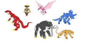 Dinozords by thecreator9