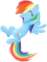 Happy Dashie by silberhase