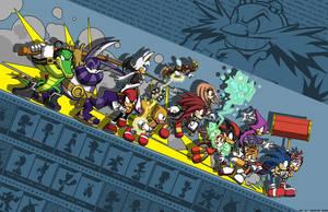 Sonic - Teams against Eggman by Tigerfog