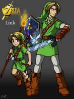 Zelda OoT - Links by Tigerfog