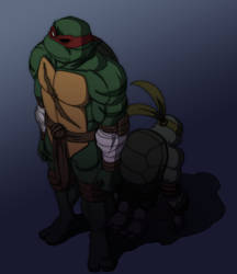 MNTGaiden - Raph and Ren by Tigerfog