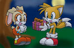 Tails and Cream - Cute date by Tigerfog