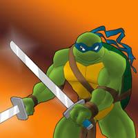 Battle stance, Leonardo by Tigerfog