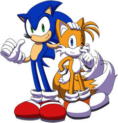 Sonic and Tails by Tigerfog