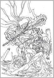 Thor's Assassin vs Manphibian WIP by guiron