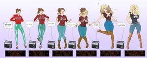 CMSN- Disco Girl to Rock Bimbo TF by Banedearg