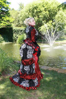 French Swan Tail Bustle Skirt Standing Back by AzreGreis