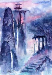Crystal Waterfalls by AnnaArmona