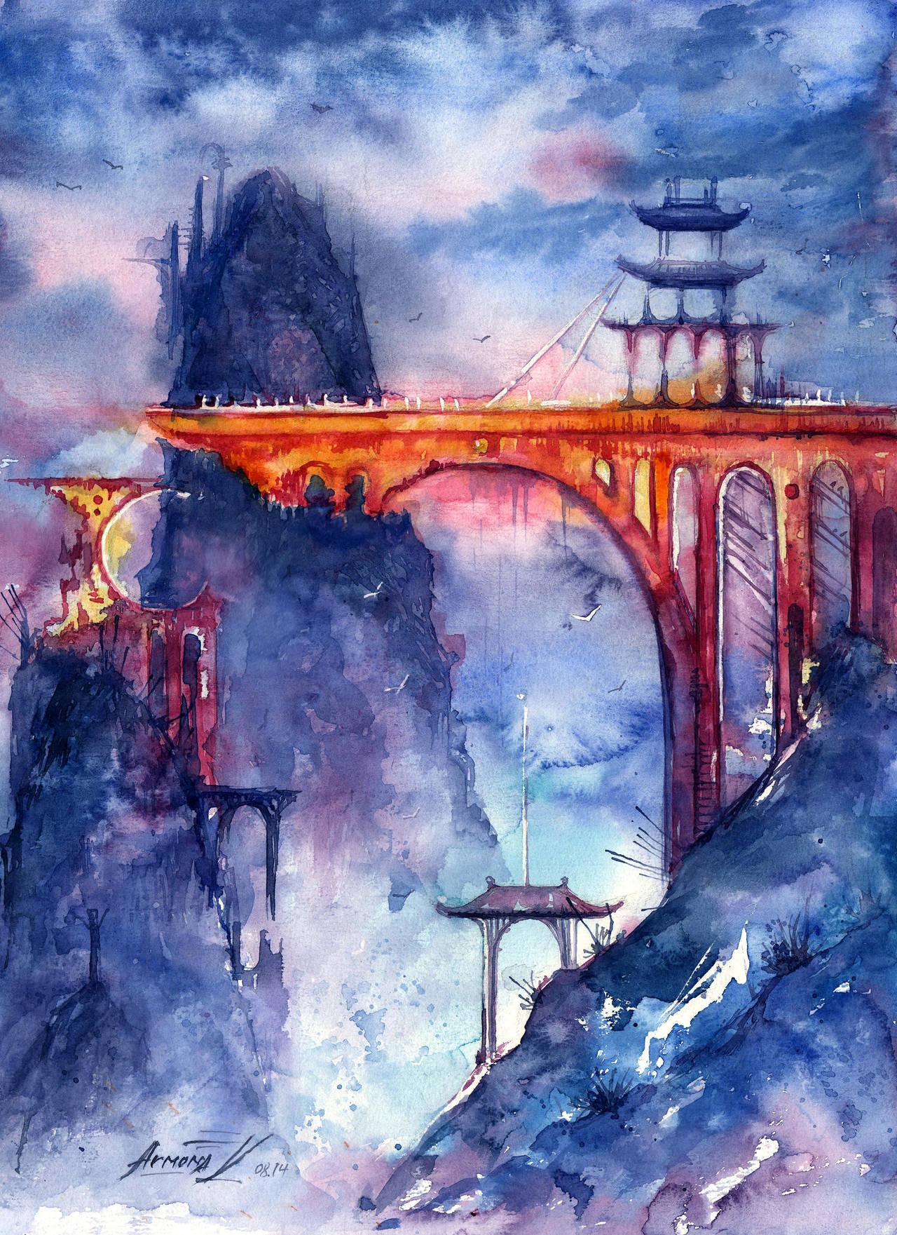 Golden Bridge. Legend about Forgotten World. by AnnaArmona