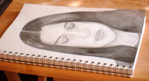 Self-Portrait Sketch by babygurl83