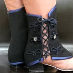 Navy Blue and Black Spats by MONJIO