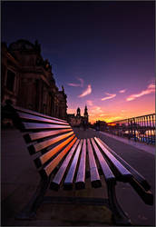 A bench in Dresden by Torsten-Hufsky